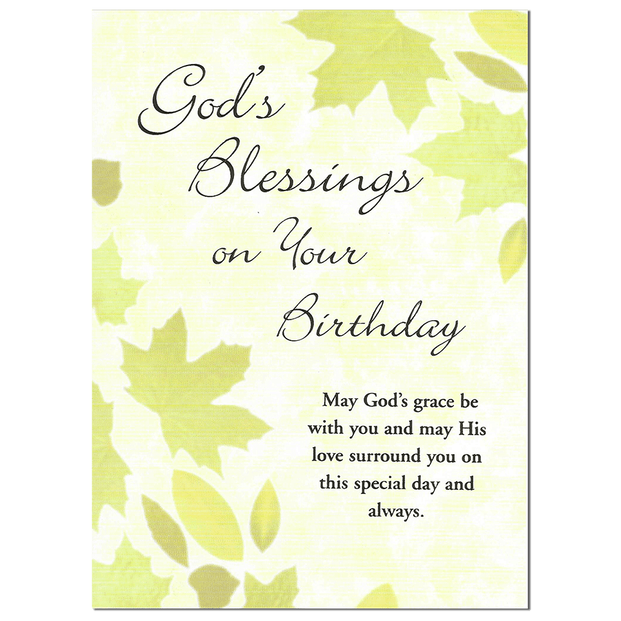 One Year Enrollment: God's Blessings for a Happy Birthday